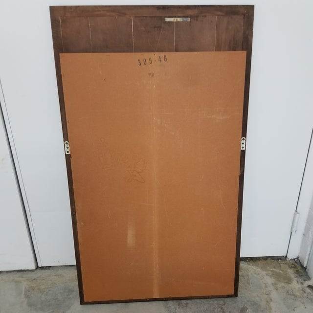 1960s Mid-Century Sculptural Walnut Wall Mirror For Sale - Image 5 of 8