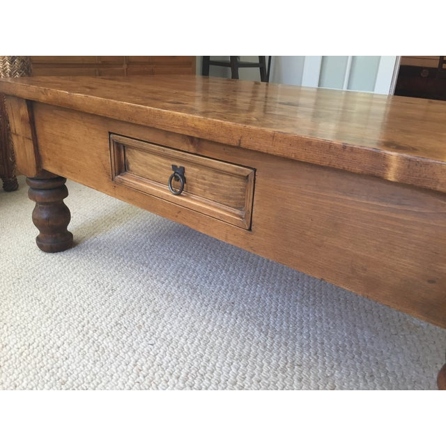 Wood Vintage Bun-Foot Coffee Table For Sale - Image 7 of 11