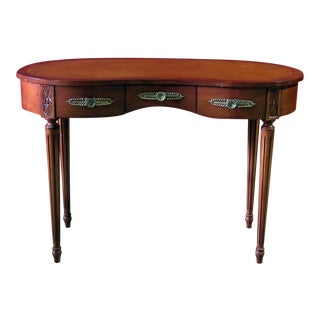 Vintage Mid Century Louis XVI Style Inlaid Writing Desk For Sale
