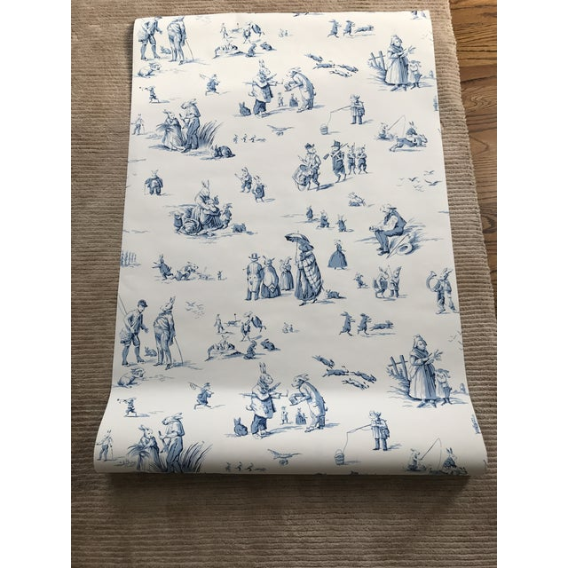 "Brunschwig & Fils Wallpaper ""Bunny Business"" Roles - Two Triple Rolls For Sale In New York - Image 6 of 8"