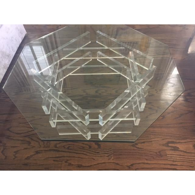 Lucite 'Brick' Coffee Table - Image 3 of 7