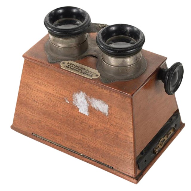 Stereoscope Wooden Viewer by Verascope Richard For Sale
