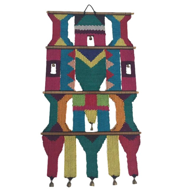 Mid-Century Modern Textile Wall Art Hanging - Image 1 of 7