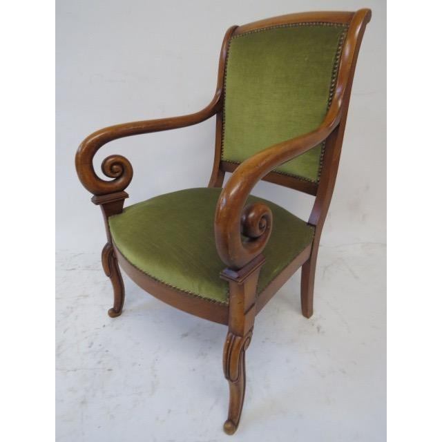 Wood Director Chair With Curved Arms For Sale - Image 7 of 10