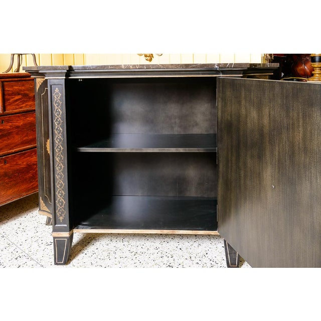 Early 21st Century Black Marble Top Cabinet For Sale - Image 5 of 8