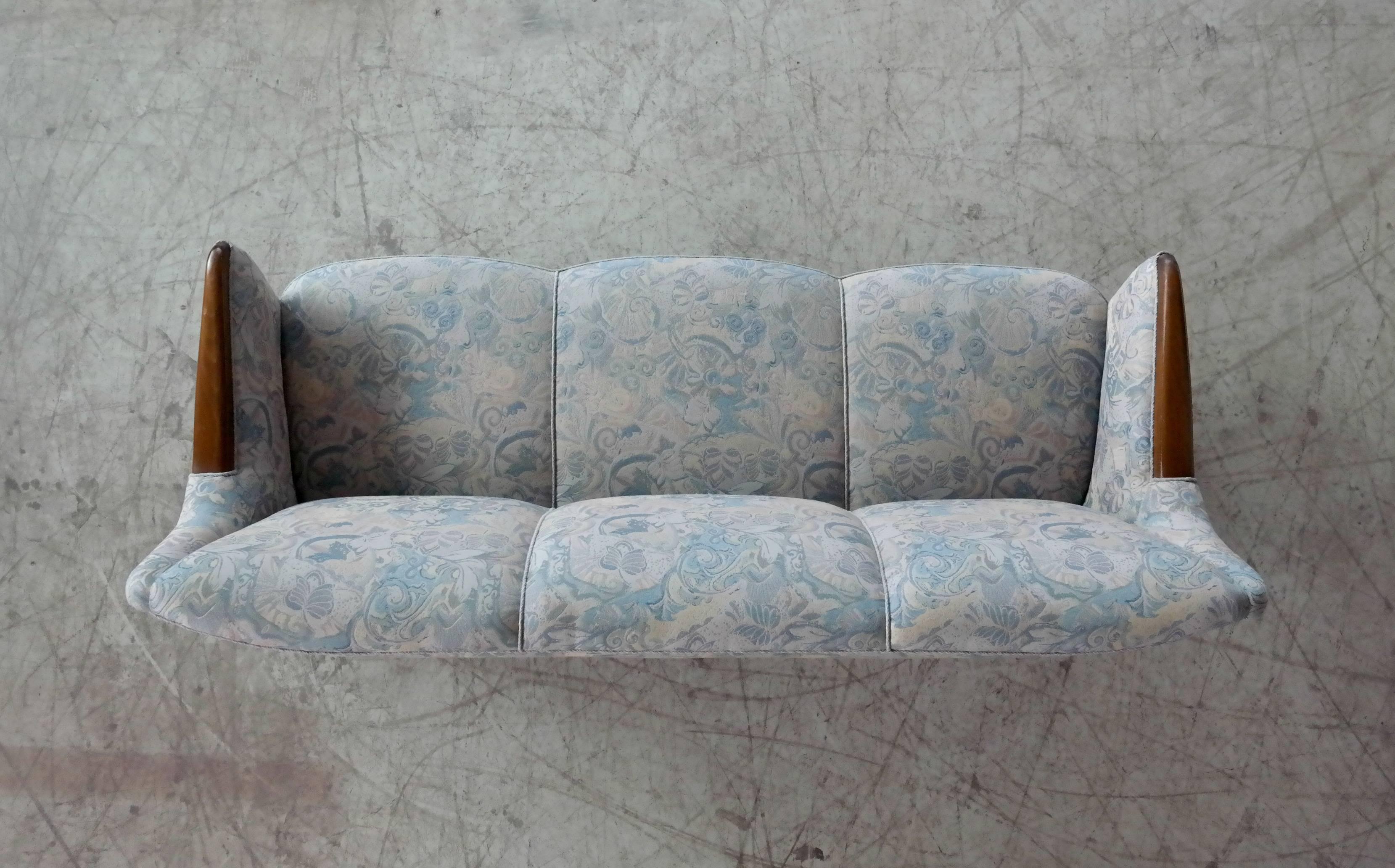 Danish Midcentury Sofa With Teak Armrests   Image 9 Of 10