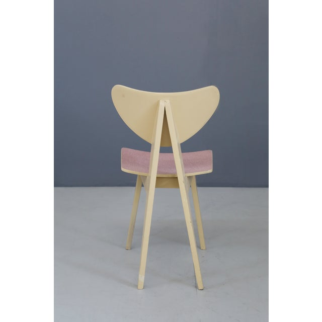Mid-Century Modern Set of Chair MidCentury Attributed to Gianni Vigorelli in Wood and Formica, 1950 For Sale - Image 3 of 8