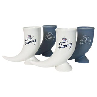 Tuborg Danish Beer Steins - Set of 4