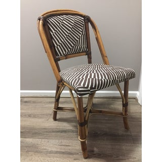 1960s Vintage Trina Turk Upholstery Rattan Side Chair Preview
