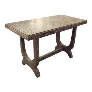Contemporary Black and White Granito Console Table