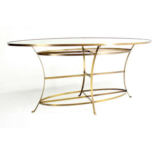 Gold Large Oval Display Table For Sale - Image 8 of 10