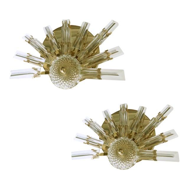 Vintage Stilkronen Crystals Sconces - A Pair For Sale