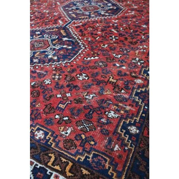 "Vintage Persian Shiraz Rug - 6' X 9'2"" - Image 5 of 9"