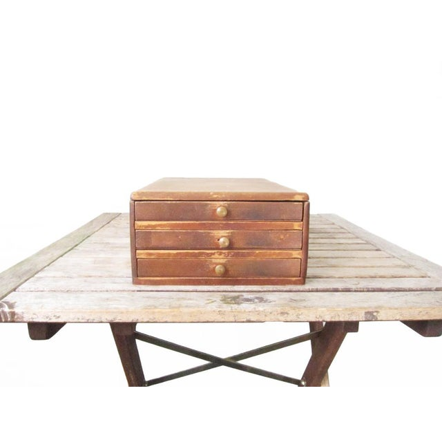 Vintage Watchmakers Wood Drawer Cabinet - Image 4 of 11