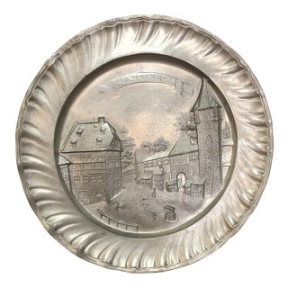 Albrecht Dürer Nuremberg Pewter Plate For Sale