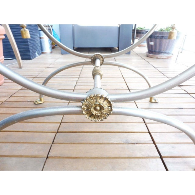 1970s Neoclassical Bench With Rope Tassels For Sale - Image 4 of 10