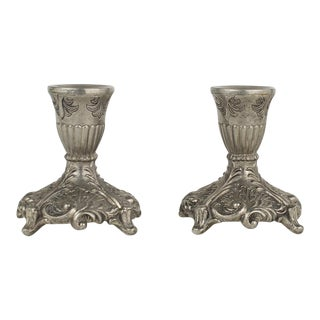 Victorian Filigree Candlestick Holders - A Pair