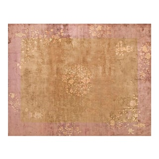 """1930s Vintage Chinese Art Deco Rug - 9'2""""x11'4"""" For Sale"""
