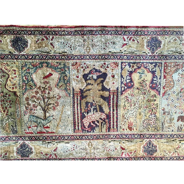 This is a genuine handmade Turkish Rug. Very attractive early Turkish rug, which is called Saph and is made of silk on...