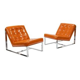 1960s Vintage Milo Baughman Lounge Chairs- A Pair For Sale