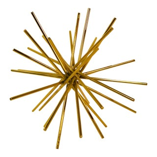"Modern Gold Accent Ball Iron Rods ""Asterick"" Desk Ornament For Sale"