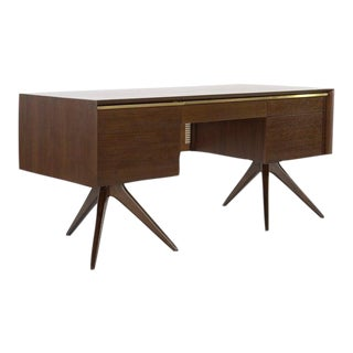 1950s Vladimir Kagan for Grosfeld House Walnut Desk For Sale
