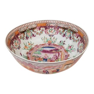 Large Rare New Hall Punch Bowl For Sale