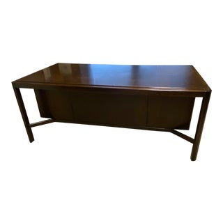 1970s Vintage Mid-Century Modern Glenn of California Wood Desk For Sale