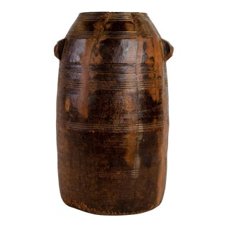 Vintage Indian Wooden Grain Storage Container For Sale