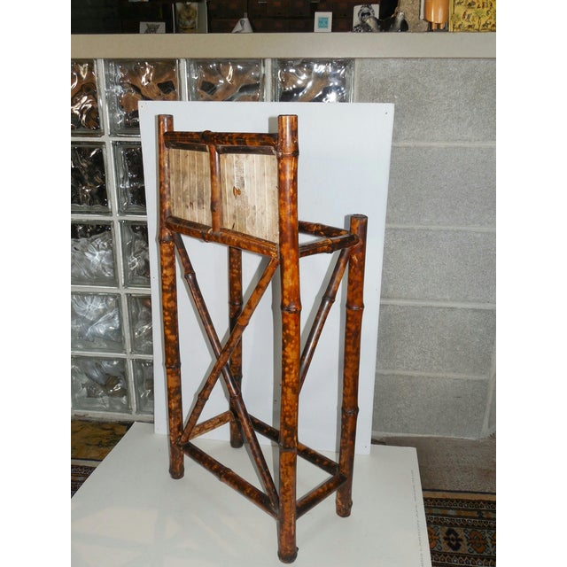English Arts & Crafts Stick Stand with Tiles - Image 6 of 7