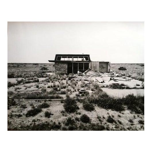 """Dead Gas Station"" Black & White Photograph For Sale"