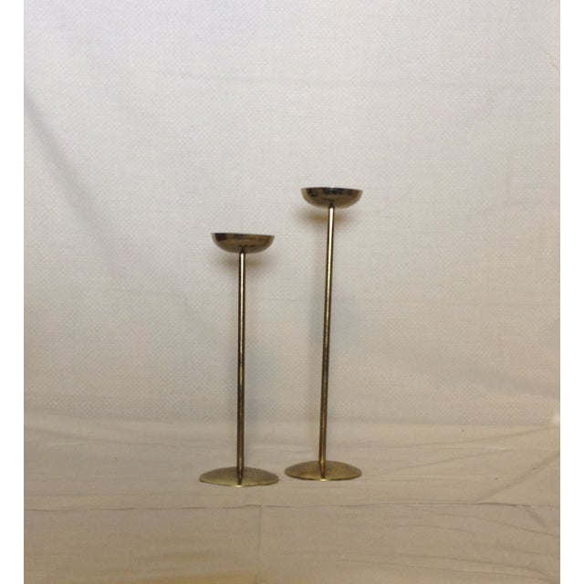 Brass Candlesticks - Pair - Image 3 of 3