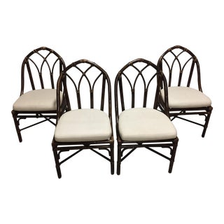 McGuire Bamboo Dining Chairs - Set of 4 For Sale