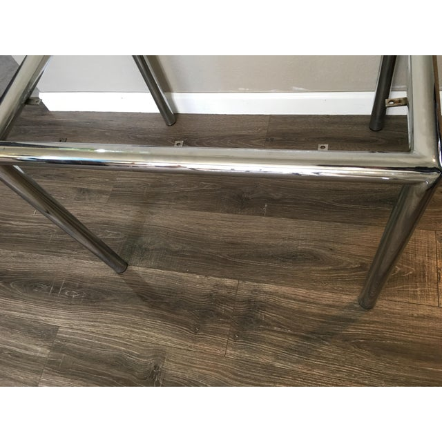 Marcel Breuer 1950s Contemporary Marcel Breuer Chrome & Cane Accent Table For Sale - Image 4 of 8