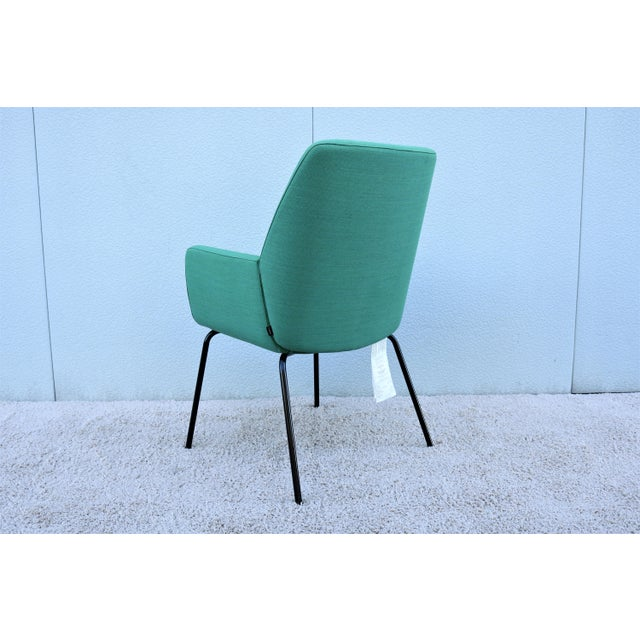 Textile Modern Brian Kane for Coalesse and Steelcase Bindu Green Guest Chair For Sale - Image 7 of 13