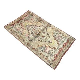 Vintae Turkish Oushak Rug For Sale