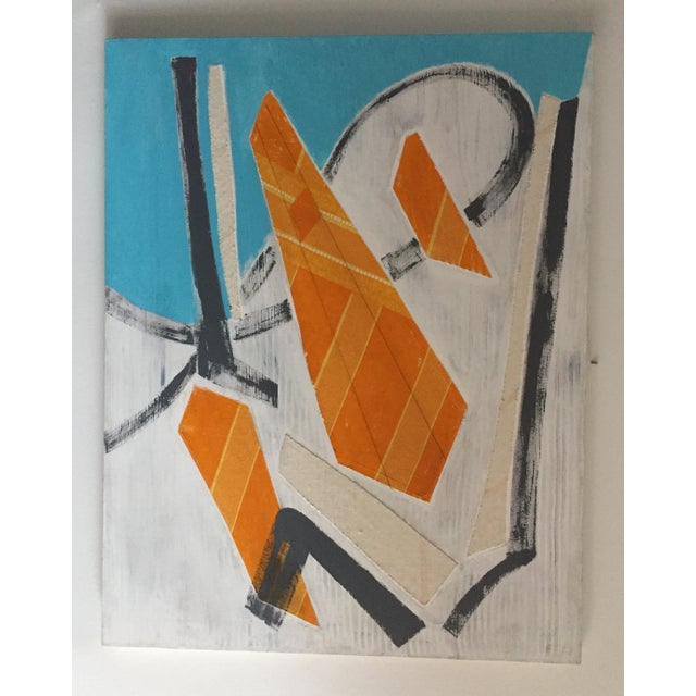 White Large Original Mixed Media Modern Art on Canvas For Sale - Image 8 of 8