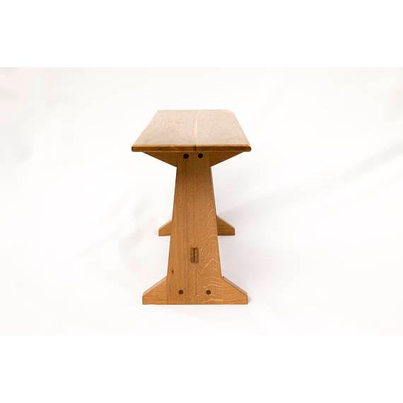 Japanese Style Trestle Table & Bench - A Pair - Image 11 of 11