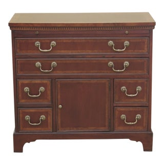 1990s Traditional Hekman Mahogany Bachelor Chest With Center Door For Sale
