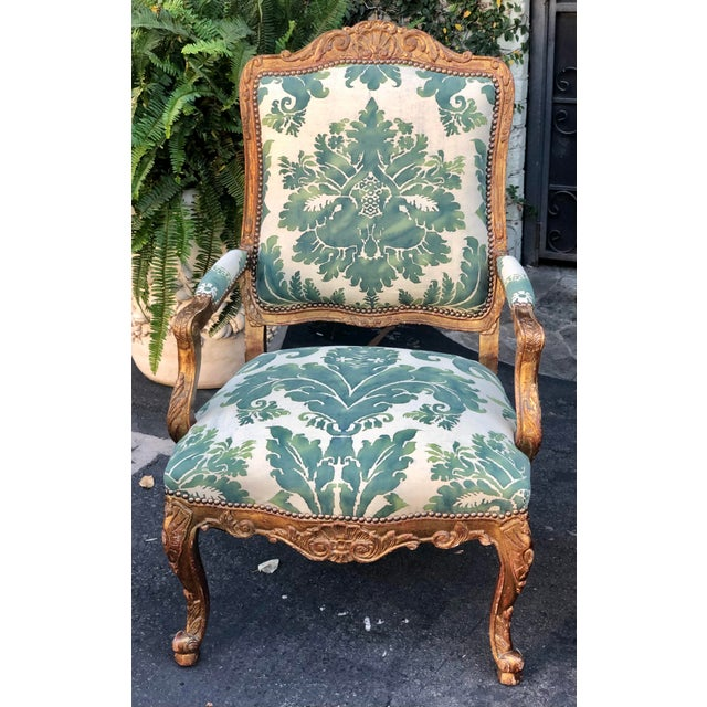 Minton-Spidell Minton-Spidell Mariano Fortuny Louis XVI Bergere Chairs - a Pair For Sale - Image 4 of 8
