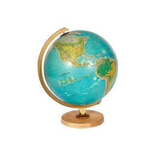 1960s Lighted World Globe