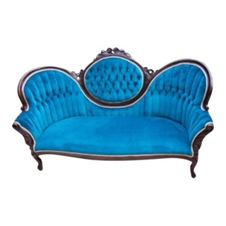 Turquoise Victorian Couch