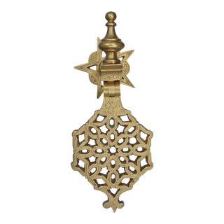 Moroccan Door Knocker W/ Ornate Details For Sale