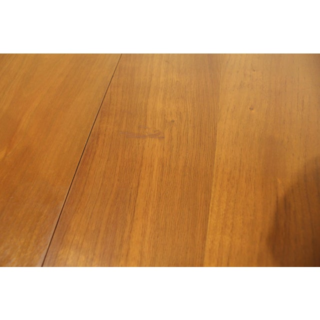 Mid-Century Modern Drexel Counterpoint Round Extension Walnut Dining Table #14 For Sale - Image 12 of 13