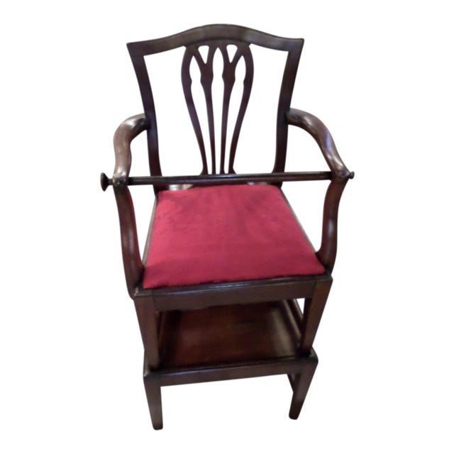 George III Mahogany Child's High Chair For Sale