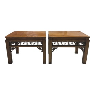 Vintage Chinoiserie Nightstands or Side Tables by Gordon Furniture - a Pair For Sale