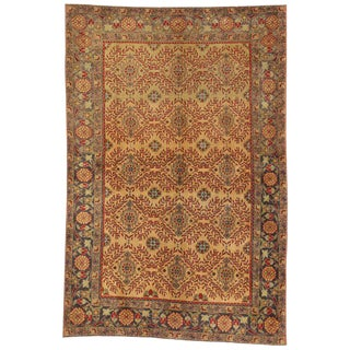 Vintage Turkish Oushak Rug With Worn-In Look - 4' X 6' For Sale