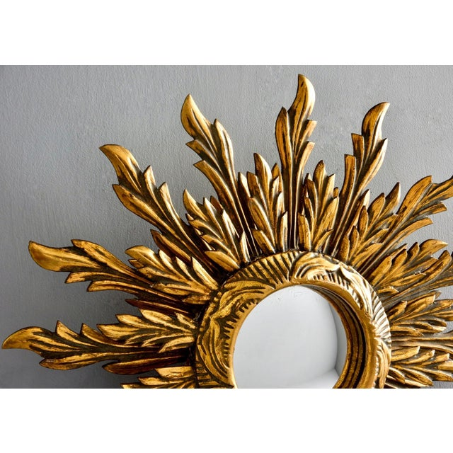 Double Layer Giltwood Sunburst Mirror For Sale - Image 9 of 11