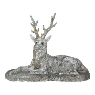 19th Century Cast Stone Majestic Deer