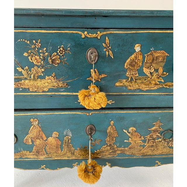 18th C. Venetian Chinoiserie Commode For Sale - Image 6 of 11